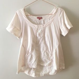 Anthropologie One September Embroidered Top